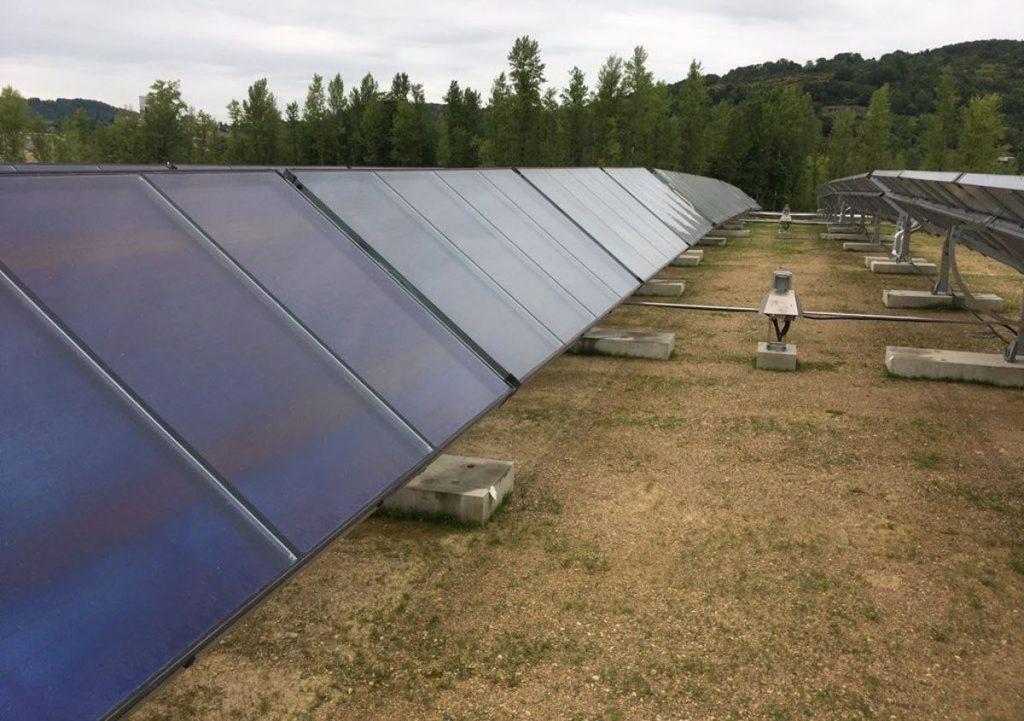 centrale solaire thermique à trackers