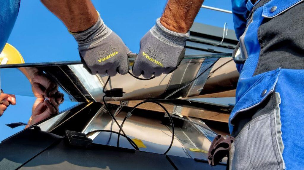 travaux raccordement panneaux solaires