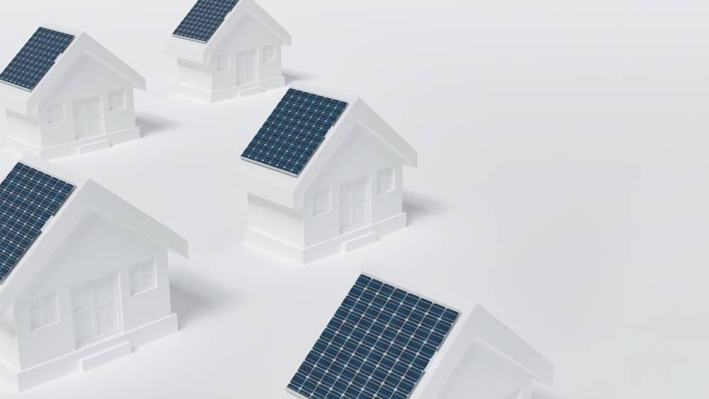 panneaux solaires photovoltaiques maquette maisons