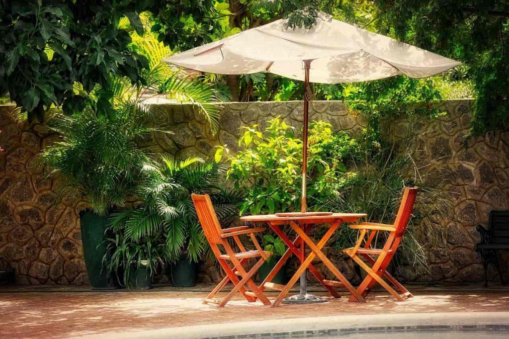 terrasse maison jardin